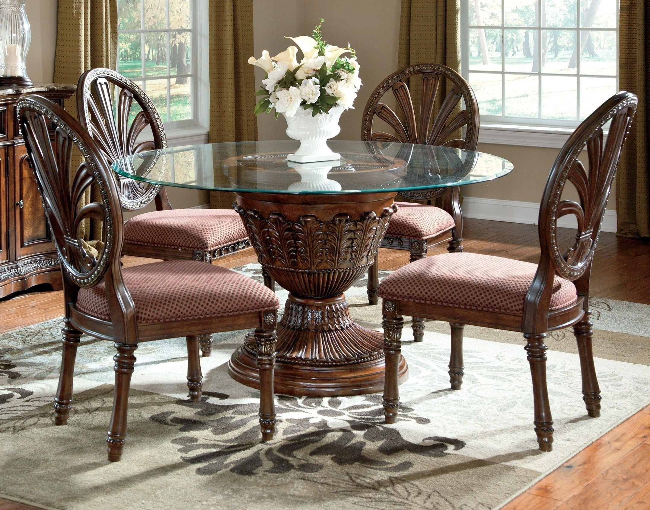 Dining throughout Favorite Craftsman 7 Piece Rectangular Extension Dining Sets With Arm & Uph Side Chairs