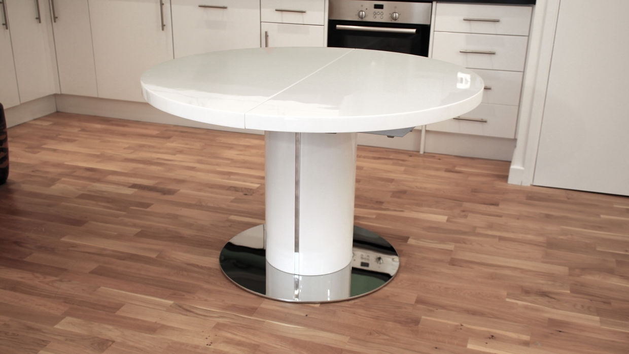 Dining: White Round Extending Dining Table With Favorite White Round Extending Dining Tables (View 18 of 25)