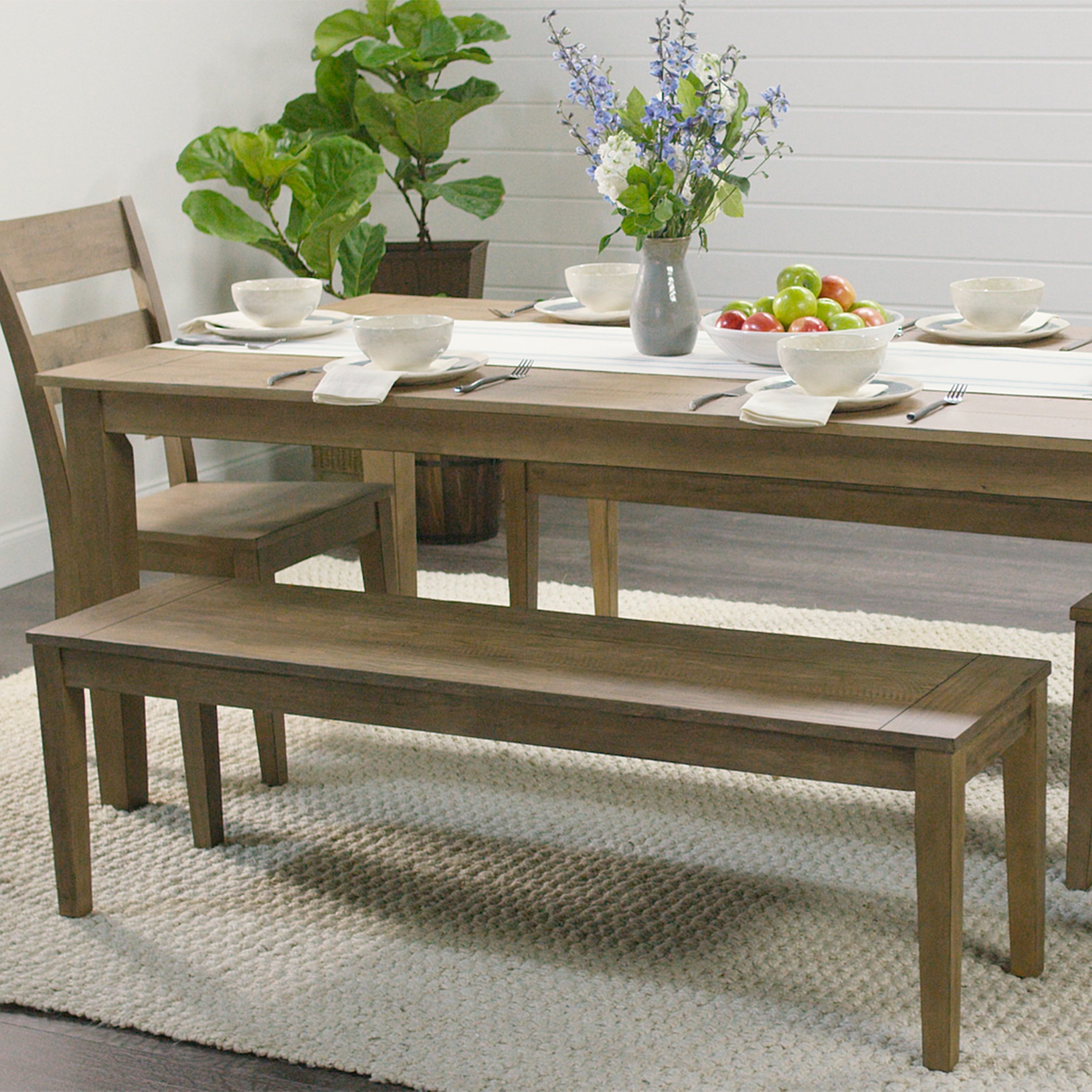 Distressed Wood Harrow Dining Table (View 6 of 25)