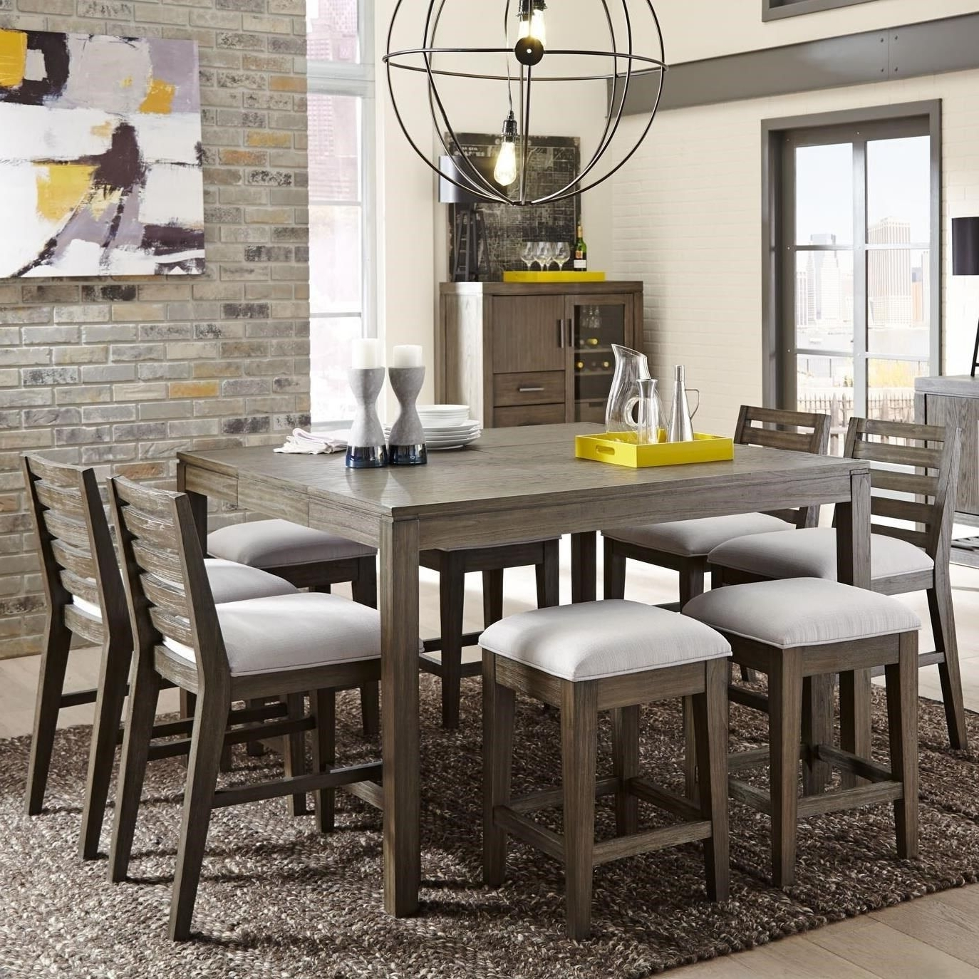 District 9 Piece Counter Height Dining Setbelfort Select In 2018 Intended For Preferred Craftsman 9 Piece Extension Dining Sets (Gallery 6 of 25)
