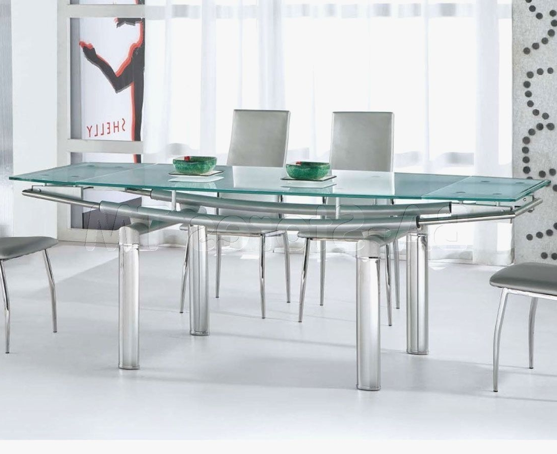 Featured Photo of Glass And Stainless Steel Dining Tables