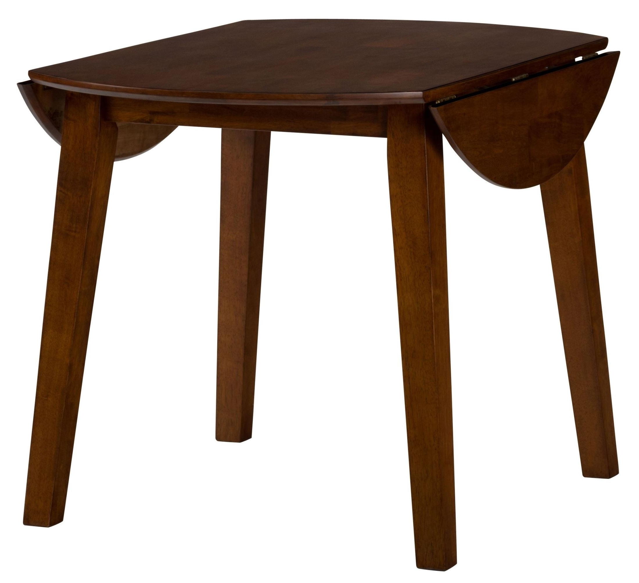 Drop Leaf Extendable Dining Tables In Well Known Jofran Simplicity Caramel Extendable Round Drop Leaf Dining Table (Gallery 8 of 25)