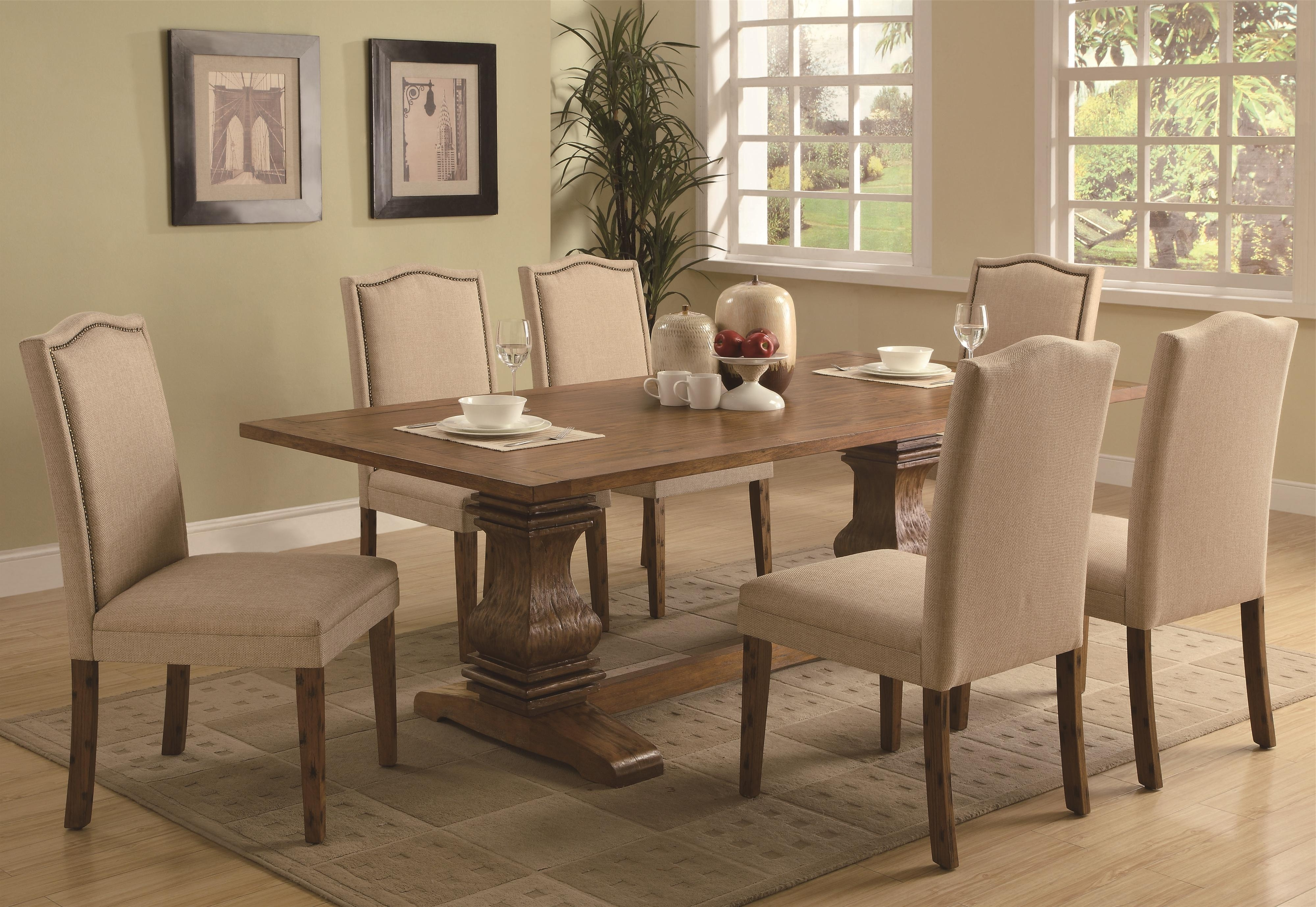 Dunk Throughout Newest Magnolia Home Double Pedestal Dining Tables (View 5 of 25)