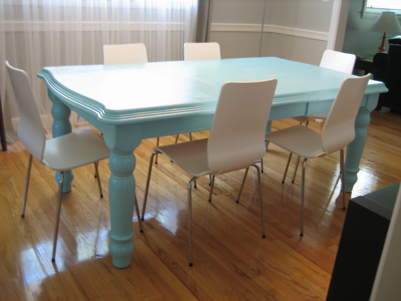 Durham Salad Days: Blue Dining Tabledone & Done Intended For Most Current Blue Dining Tables (Gallery 11 of 25)