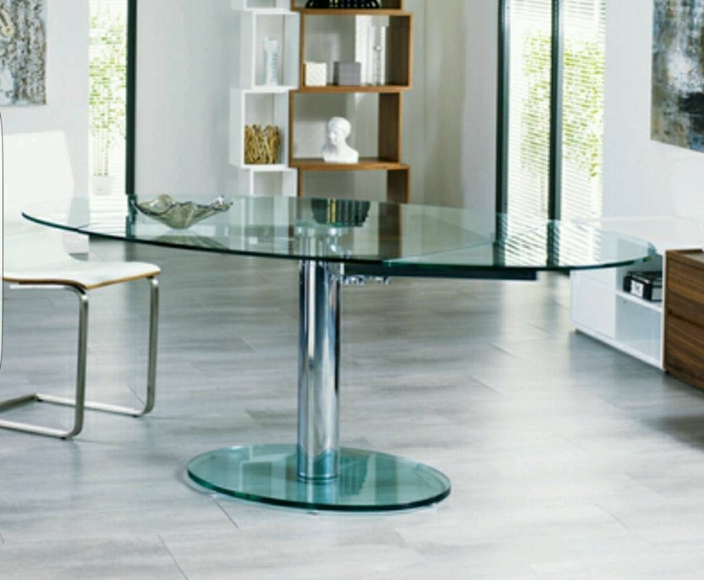 Dwell Luca Extending Glass Dining Table (New And Boxed) (Gallery 1 of 25)