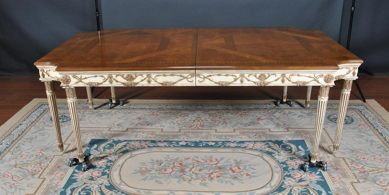 E.j. Victor (Used) Newport 8 Leg Walnut Dining Table throughout Widely used Victor Dining Tables