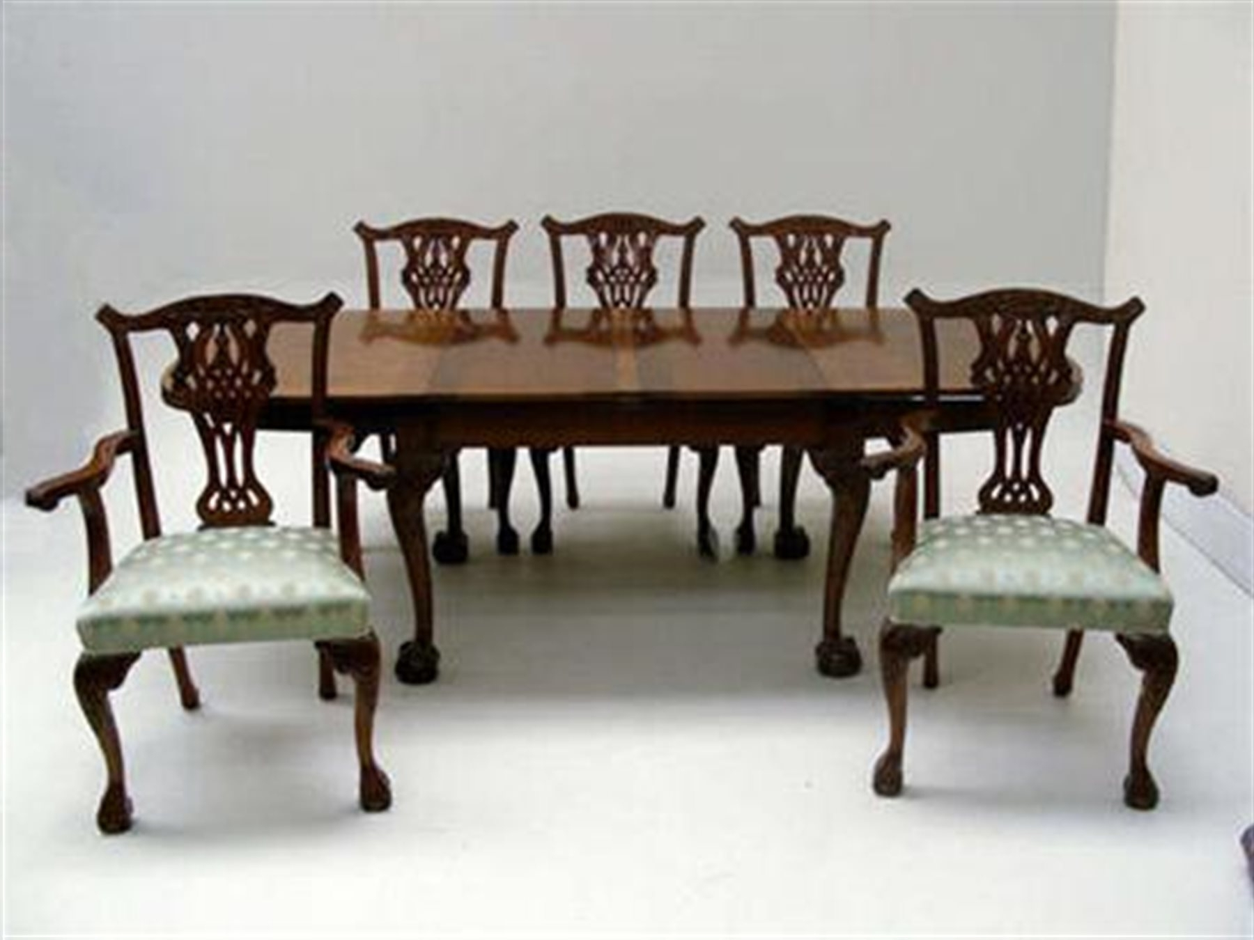 Early 20Th Century Mahogany Extending Dining Table With Ball And intended for Well-known Mahogany Extending Dining Tables And Chairs