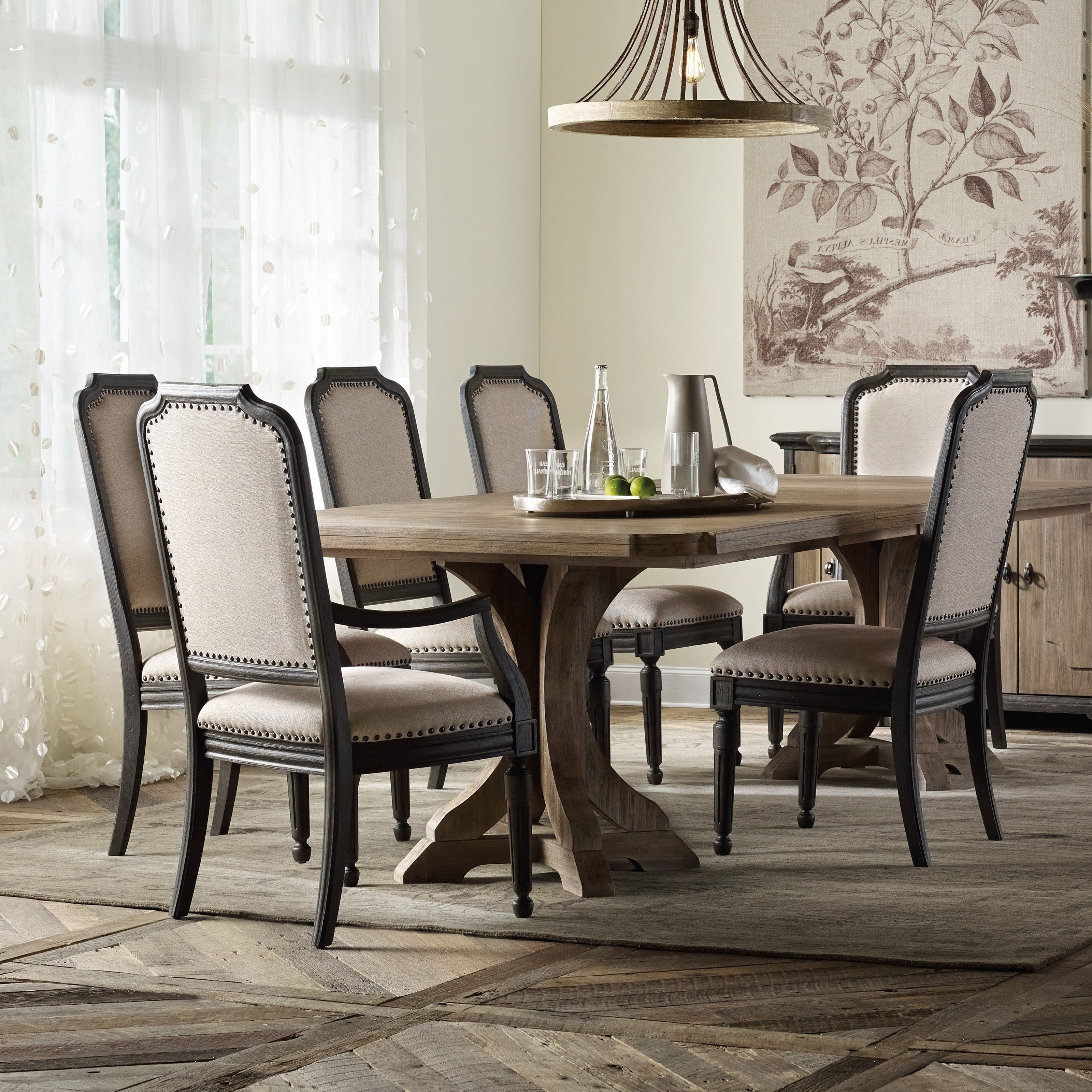 Edmonton Dining Tables Pertaining To Preferred Hooker Furniture Corsica Rectangular Pedestal Dining Table – Elegant (Gallery 22 of 25)