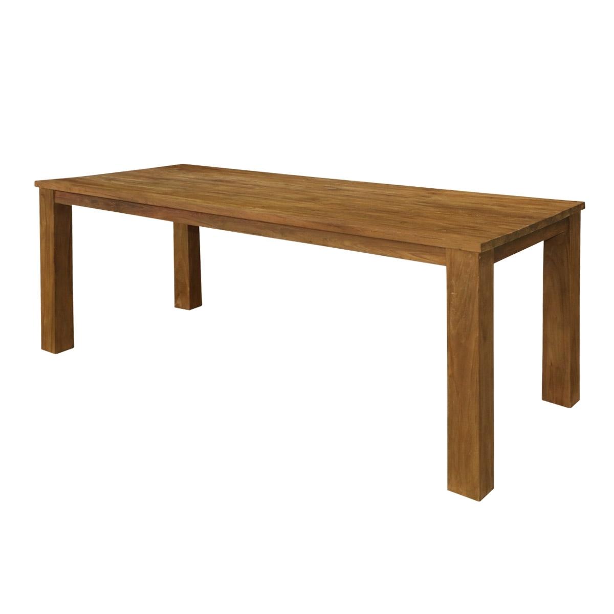 Edmonton Dining Tables Regarding Famous Edmonton Contemporary Reclaimed Teak Wood Rectangle Large Dining Table (View 8 of 25)