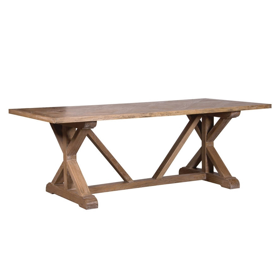 Elm Dining Table With Parquet Topout There Interiors within Most Current Parquet Dining Tables