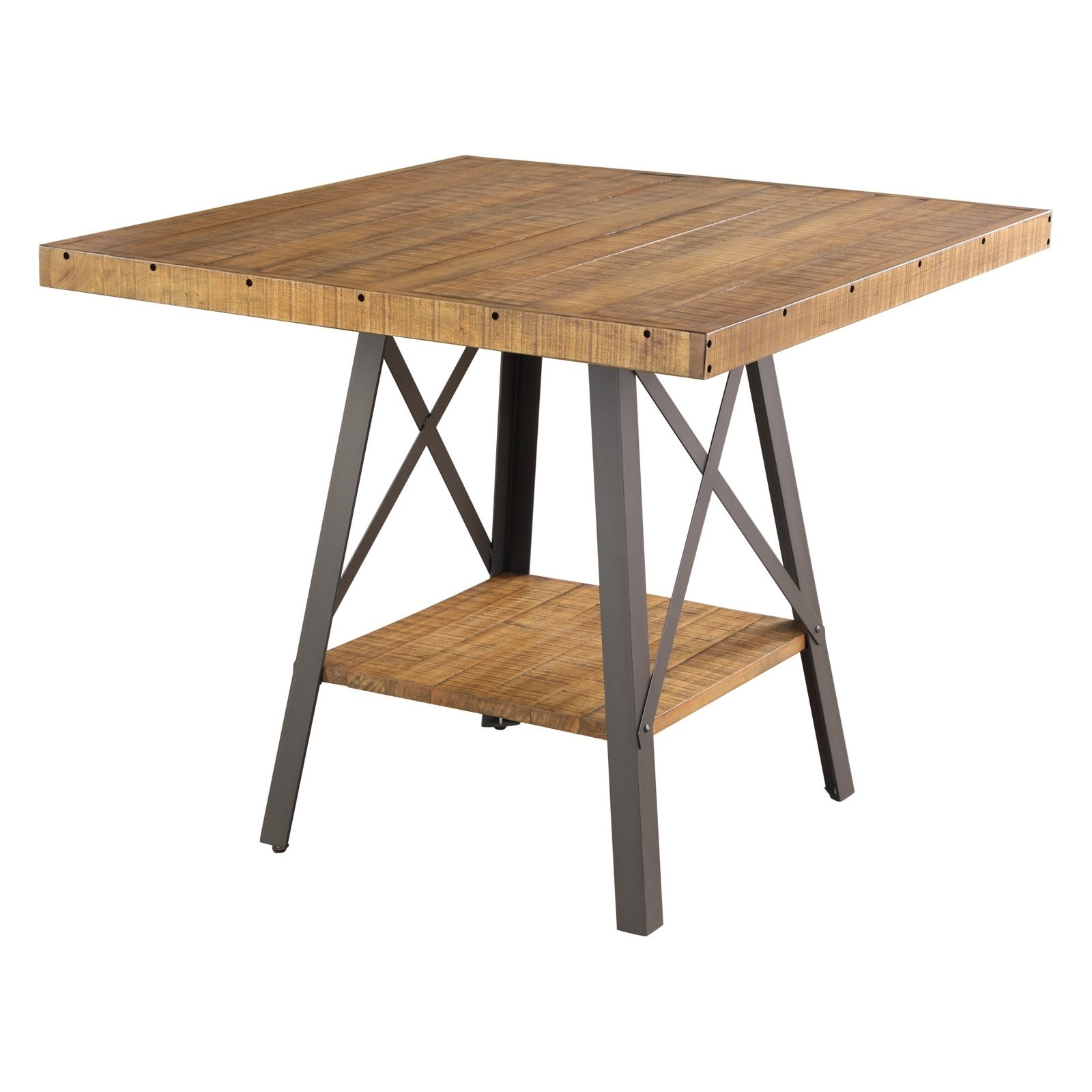 Emerald Home Chandler Metal Gathering Height Dining Table With With 2018 Chandler Extension Dining Tables (View 23 of 25)