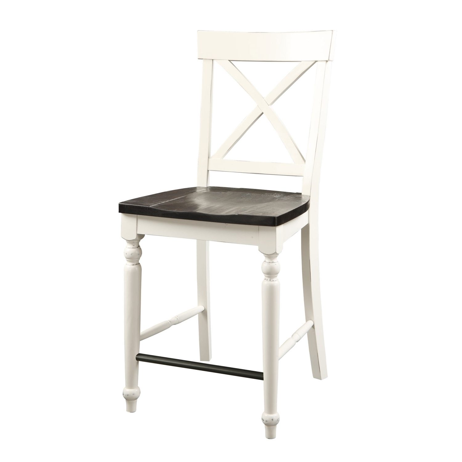 Emerald Home Furnishings Mountain Retreat X Back Barstool With Wood With Regard To 2017 Jaxon Grey 5 Piece Extension Counter Sets With Wood Stools (View 2 of 25)