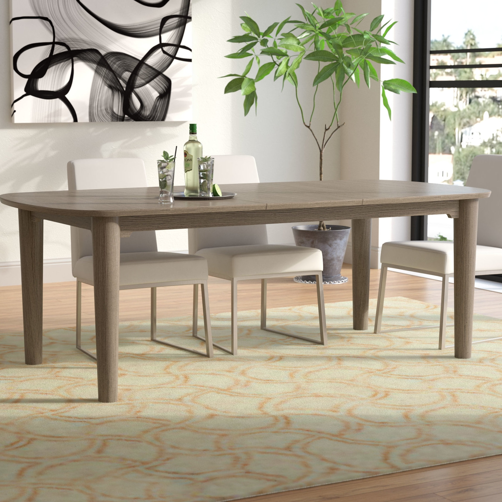 Enrique Extendable Dining Table Pertaining To Most Current Extendable Dining Sets (View 13 of 25)