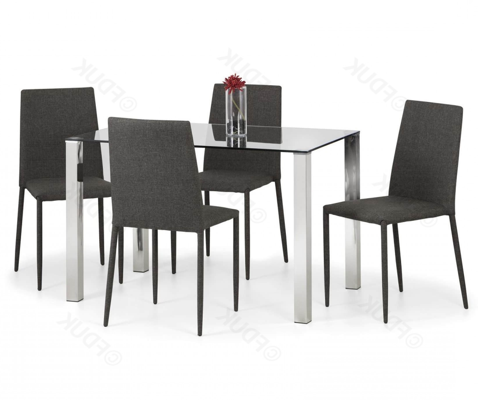Enzo Dining Table With 4 Jazz Dining Chairs Pertaining To Current Compact Dining Room Sets (Gallery 16 of 25)