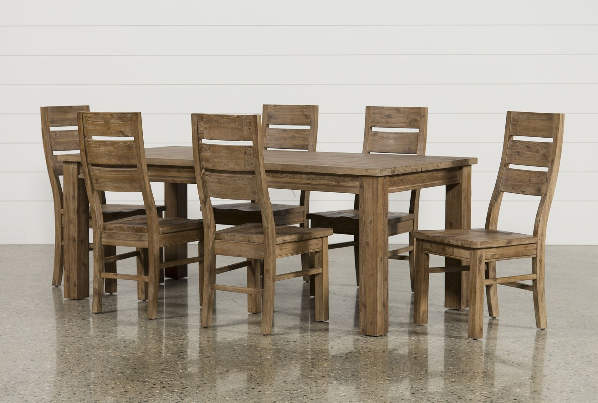 Erickson 7 Piece Dining Set, Brown (View 9 of 25)