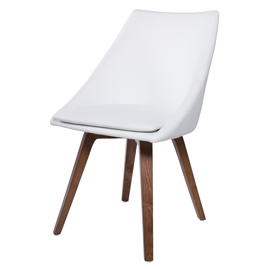 Eurway Furniture for Widely used White Leather Dining Chairs