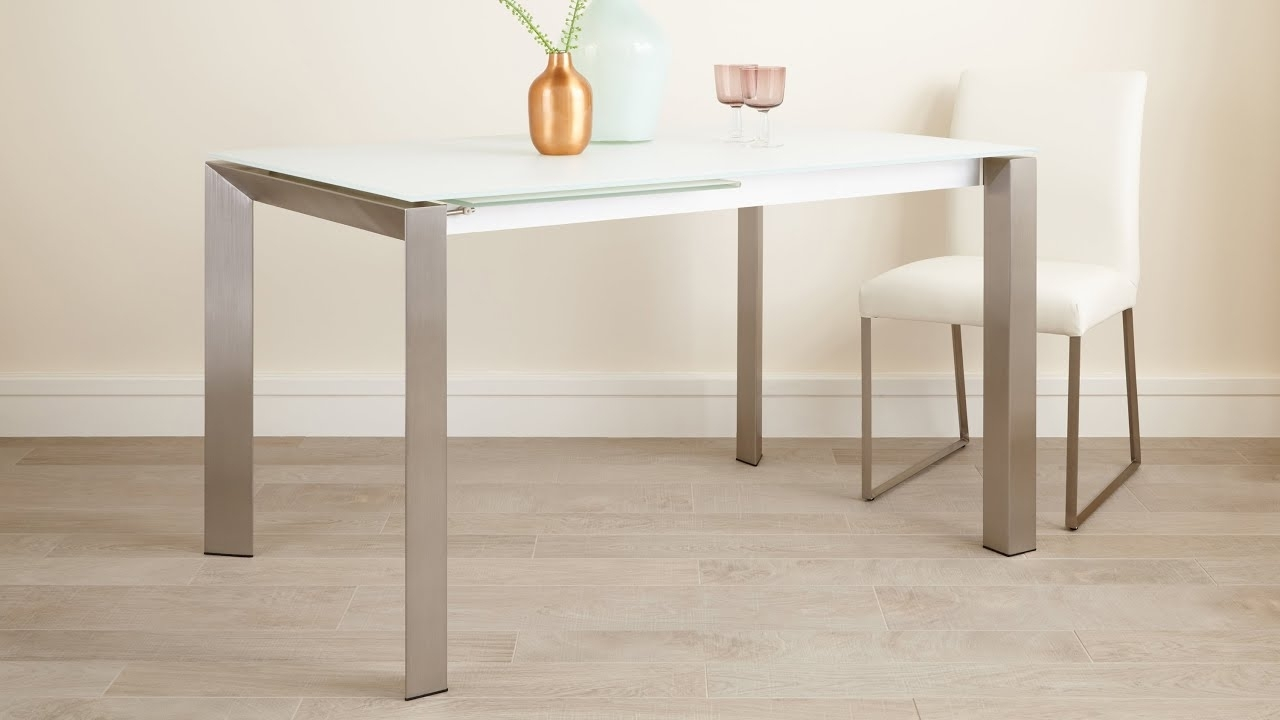 Eve Glass Extending Dining Table Range – Youtube Within Well Known Extendable Glass Dining Tables (View 8 of 25)