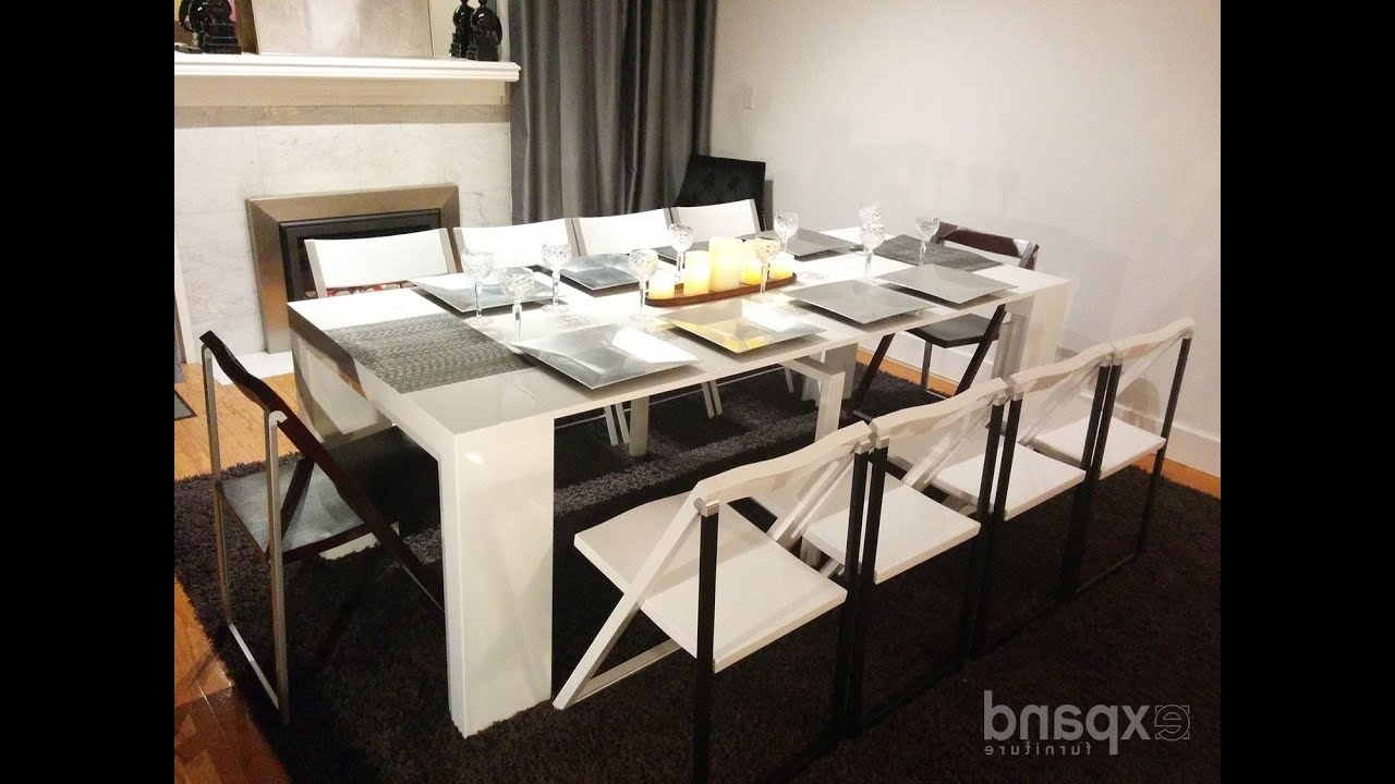 Expand Furniture - Youtube inside Dining Extending Tables And Chairs