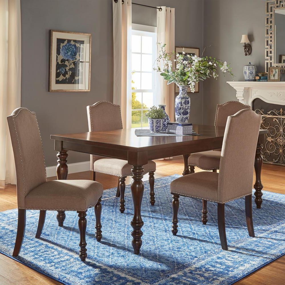 Extendable Dining Table Sets In Most Up To Date Homesullivan Madison 5 Piece Sand Beige Extendable Dining Set (View 6 of 25)