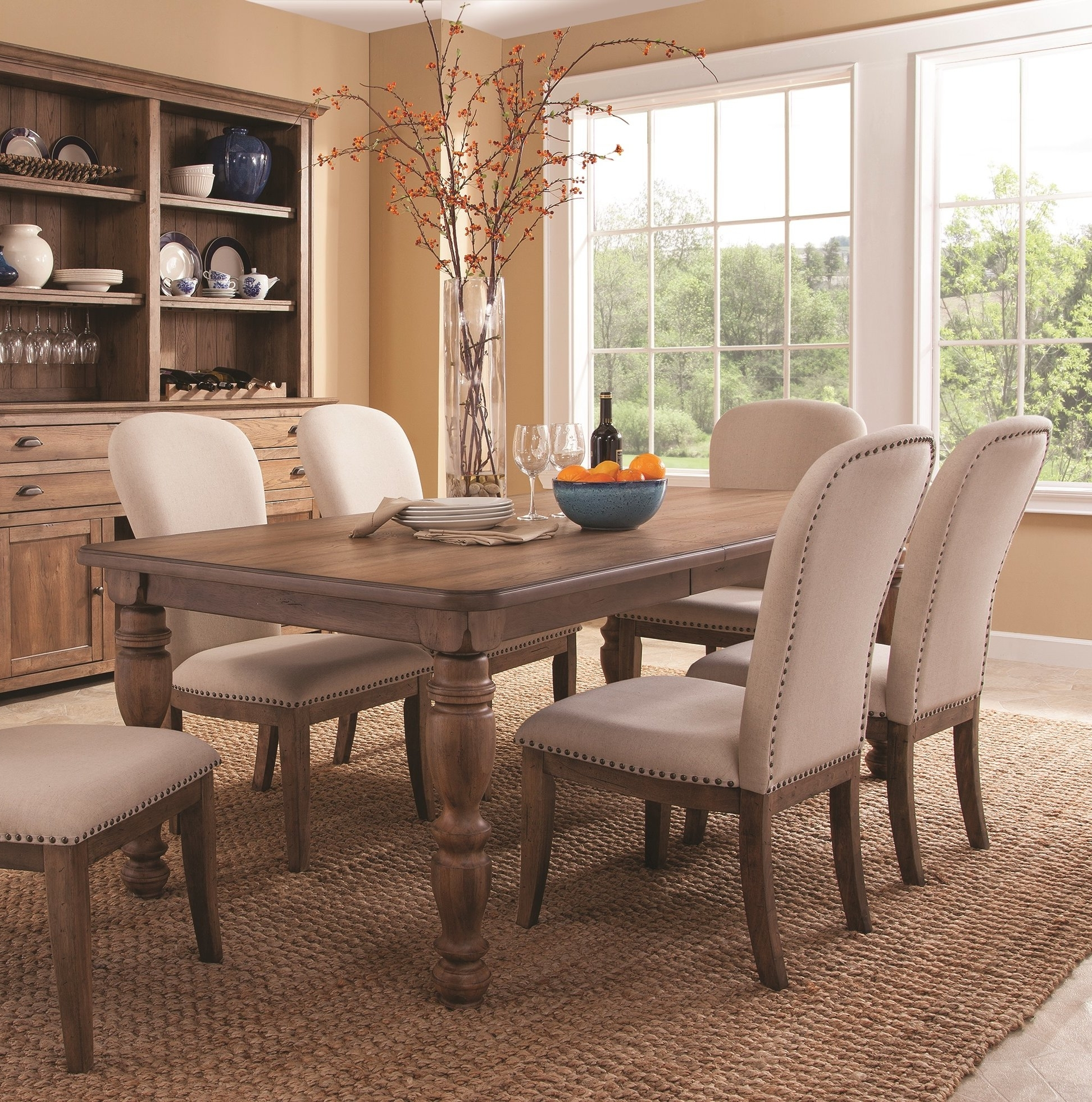 Extendable Dining Table Sets regarding Latest Panama Jack South Mountain Farmhouse Extendable Dining Table Set