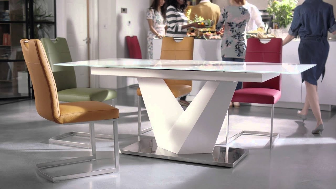 Extendable Dining Tables And Chairs Regarding Most Recent Furniture Village Tv Campaign – Habufa Panama Dining Table – Youtube (Gallery 21 of 25)