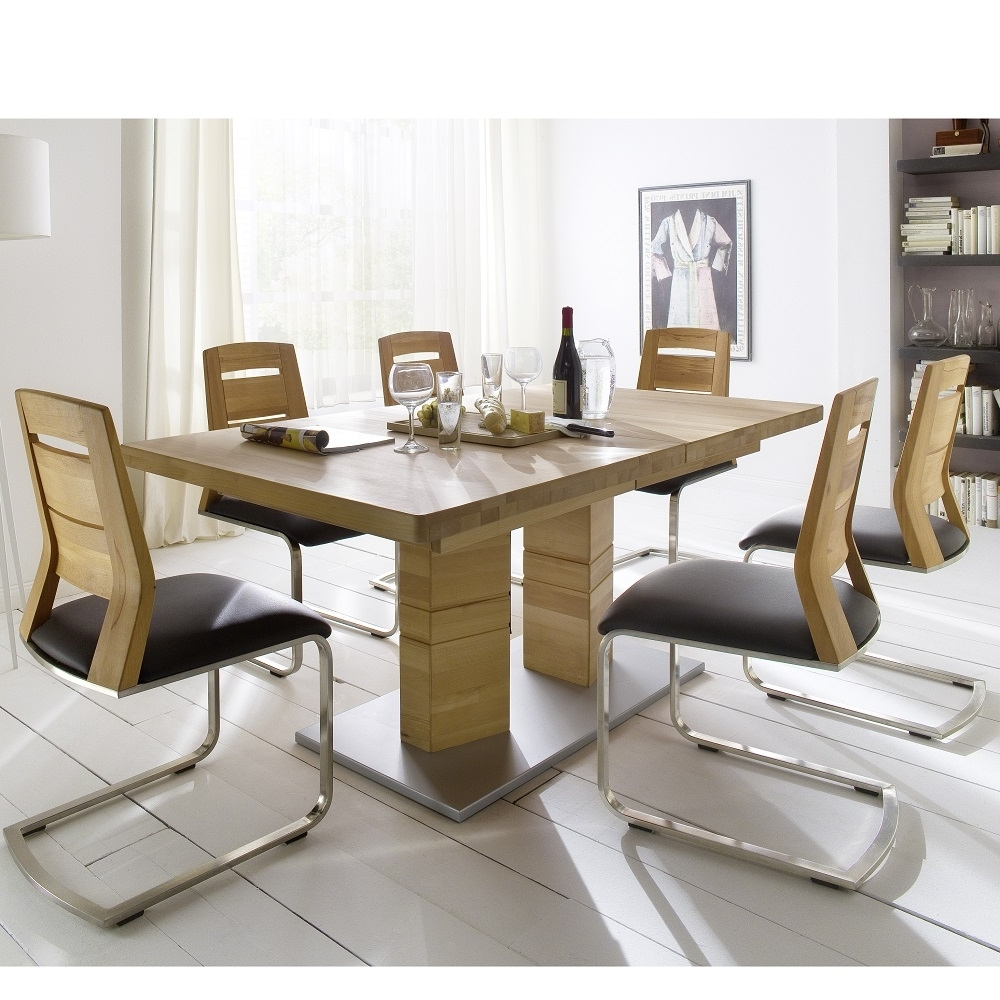 Extendable Dining Tables With 8 Seats For Well Liked Round Glass Dining Table 6 Chairs For Chairs Room (View 4 of 25)