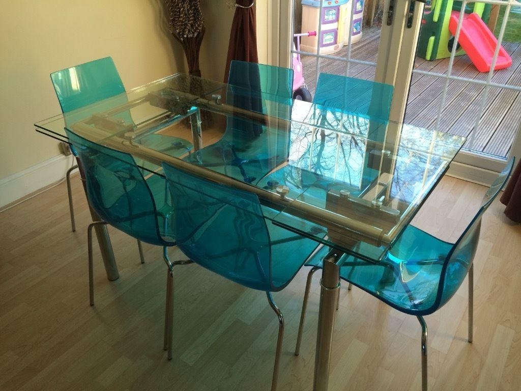 Extendable Glass Dining Table And 6 Chairs : House Photos – Great Regarding Most Up To Date Extendable Glass Dining Tables And 6 Chairs (View 7 of 25)
