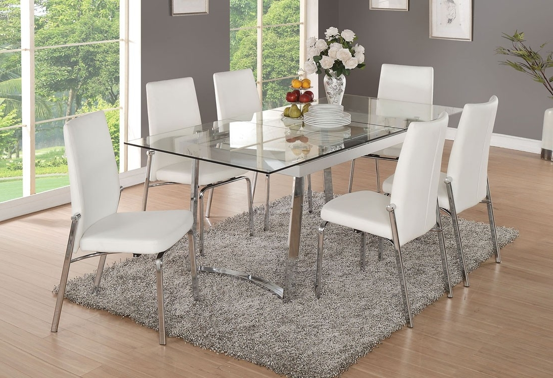 Extendable Glass Dining Tables With Most Recently Released Gerrit Extendable Glass Modern Dining Table (Gallery 24 of 25)