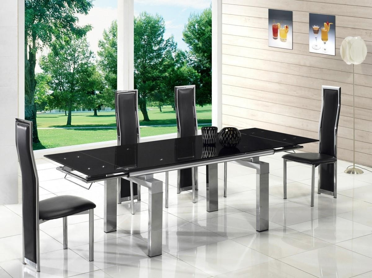 Extendable Glass Dining Tables With Regard To Best And Newest Great Extendable Glass Dining Table – House Photos (Gallery 18 of 25)