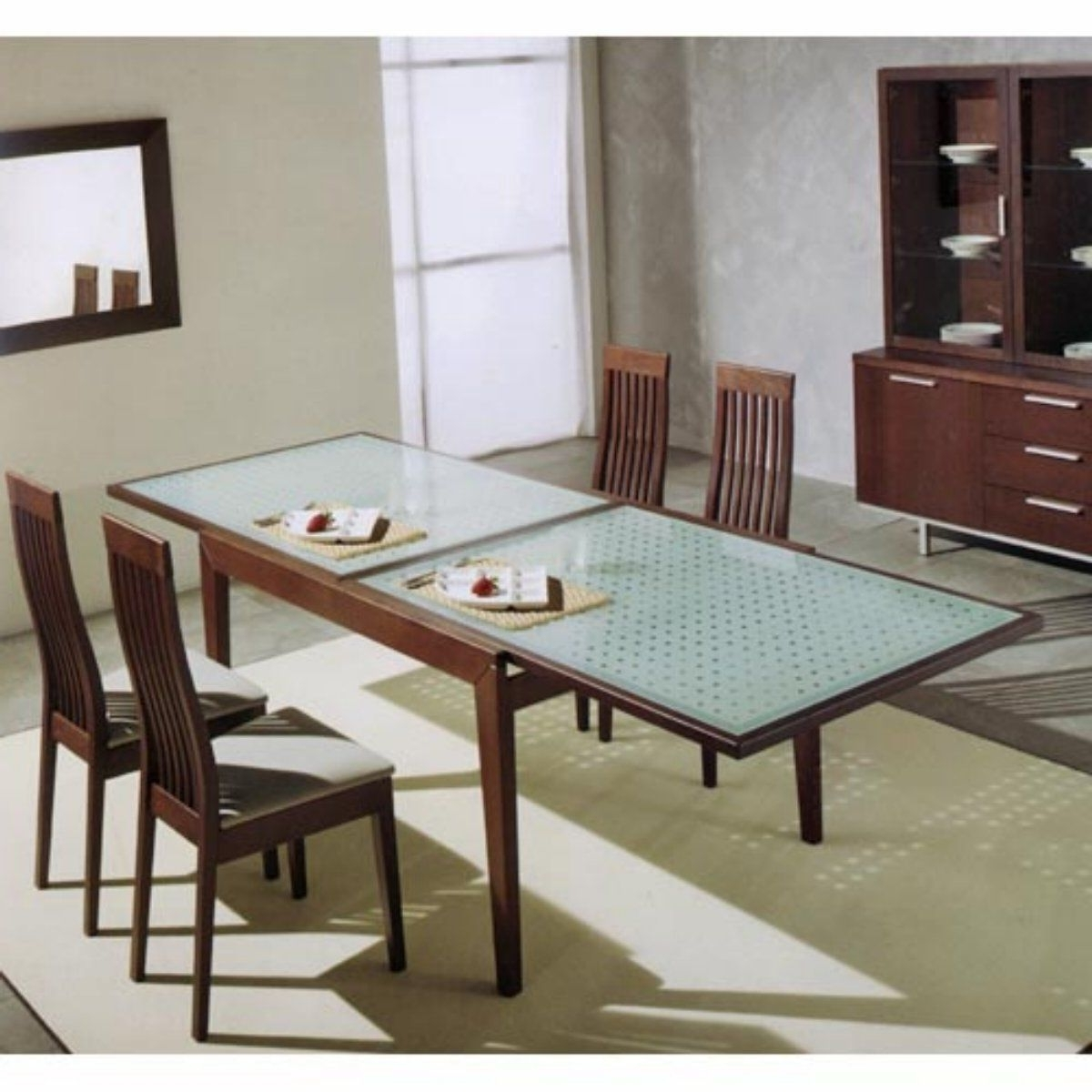 Extendable Glass Top Dining Table (Gallery 14 of 25)