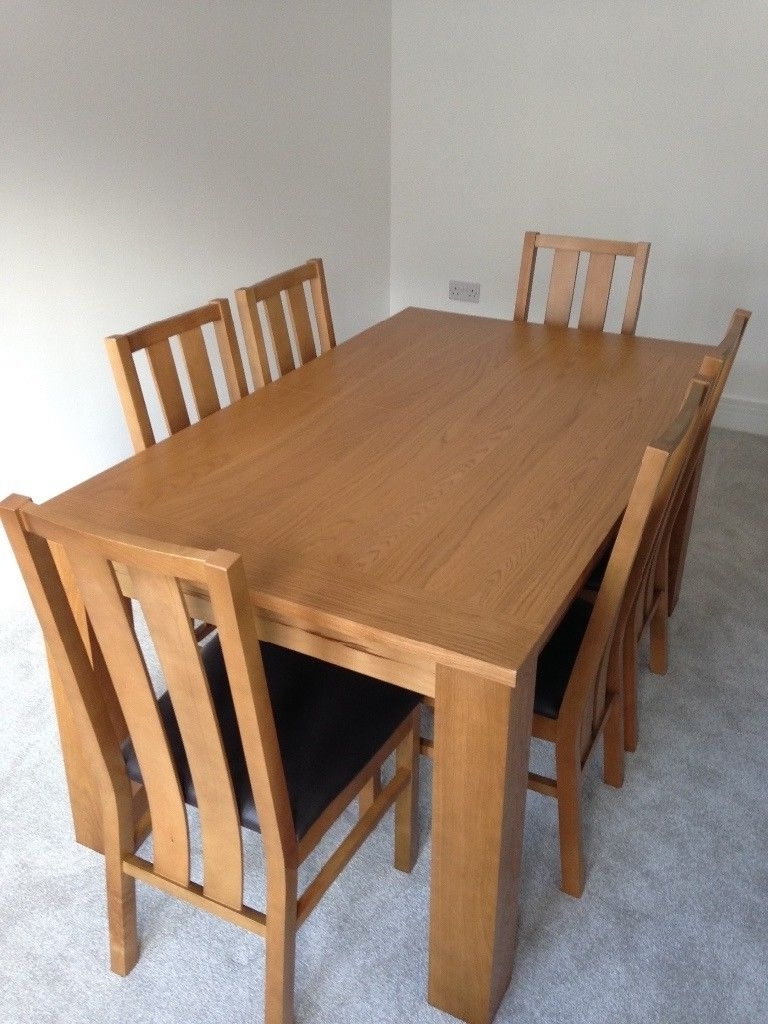 Extendable Oak Dining Tables And Chairs in Most Up-to-Date Extending Oak Dining Table & Chairs