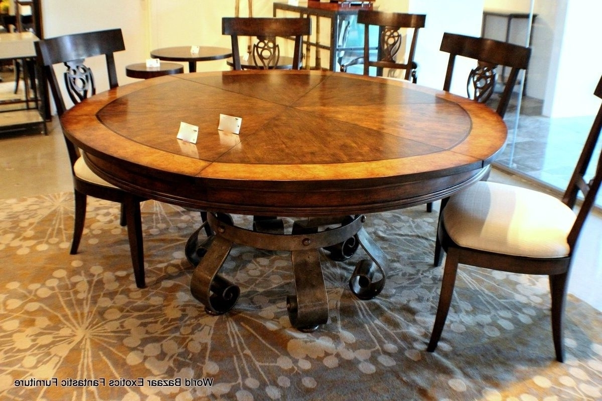 Extendable Round Dining Table Set - Castrophotos for Newest Extendable Round Dining Tables