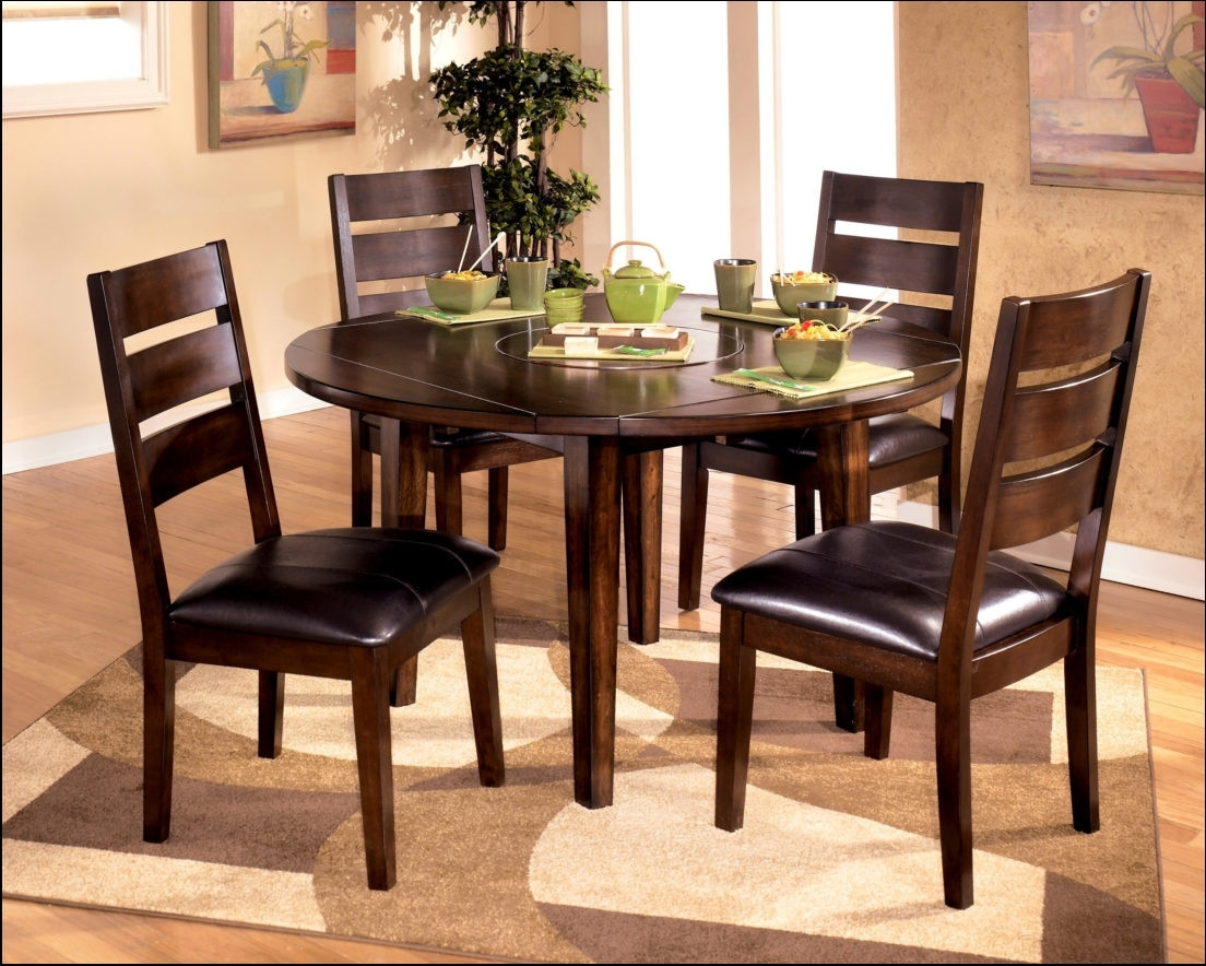 Extendable Round Dining Tables Sets Regarding Favorite Best Round Dining Table Set With Leaf Extension Extendable 7 Piece (View 8 of 25)