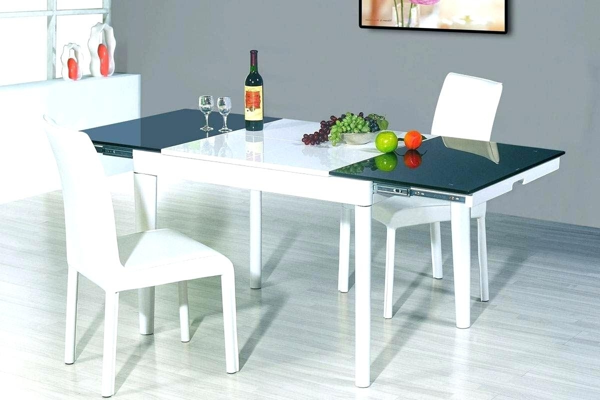 Extendable Square Dining Tables In Most Recent Decoration: Extendable Glass Dining Table (View 10 of 25)