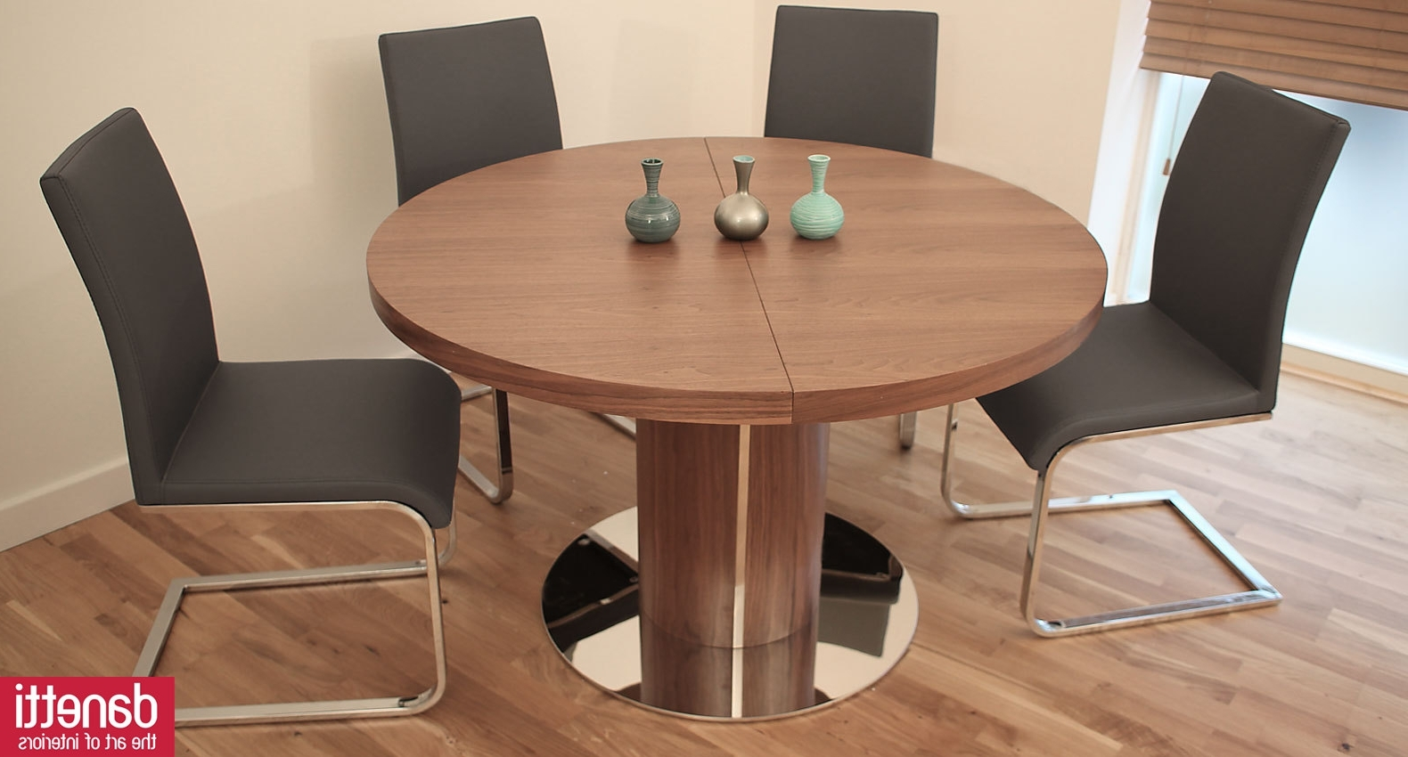 Extended Round Dining Tables Throughout Recent Extendable Dining Table — Burlap & Honey Decor (View 6 of 25)