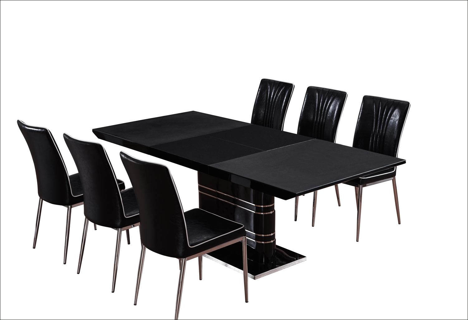 Extending Black Dining Tables throughout Well-liked Bloom Extending D/t Black - Dining Tables - Tables