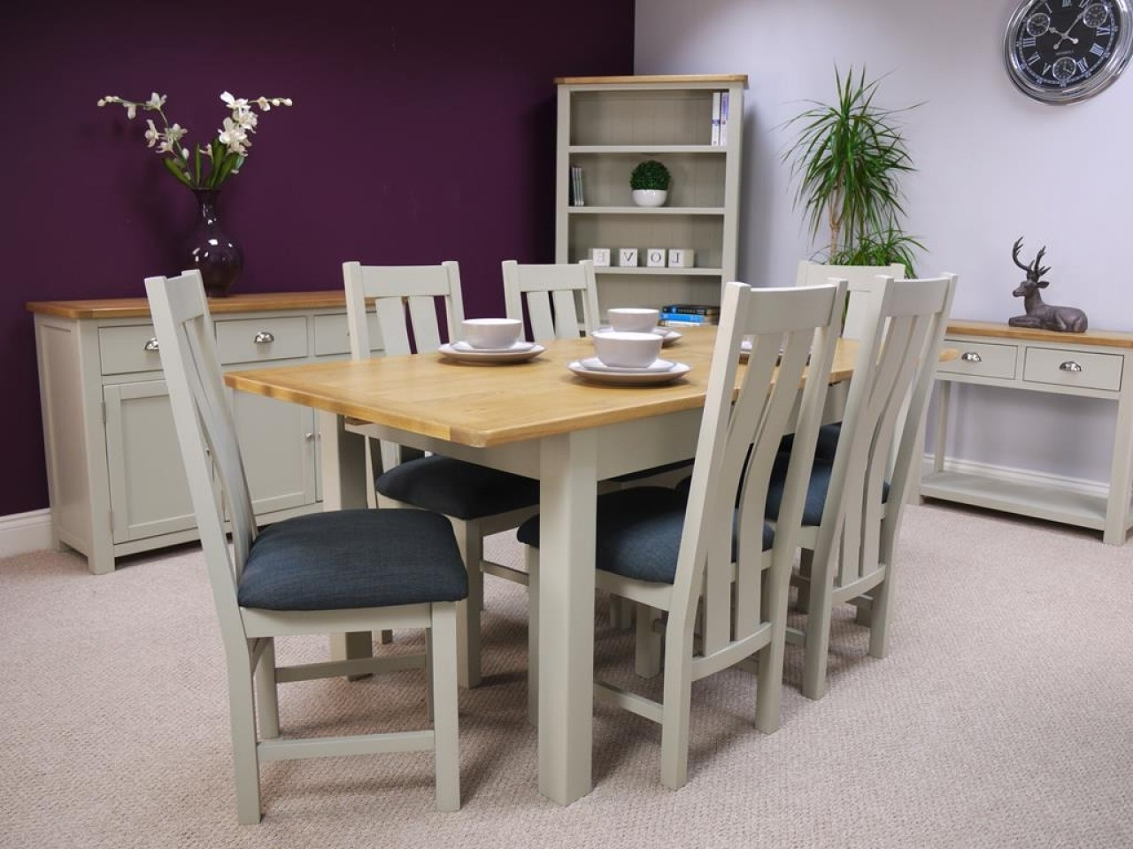 Extending Dining Room Tables And Chairs Regarding Best And Newest 5. Modern Venicia Collection Extending Dining Table In Grey Grey (Gallery 3 of 25)