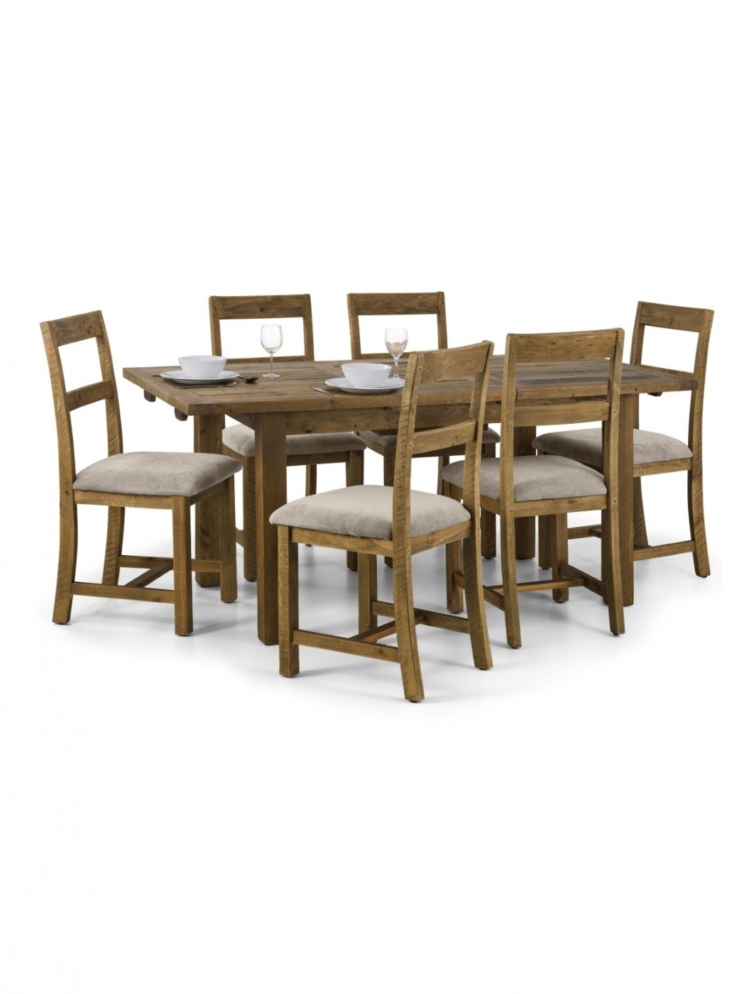 Extending Dining Sets In Preferred Aspen Extending Dining Table, 6 Dining Chairs In Solid Pine Asp (View 17 of 25)