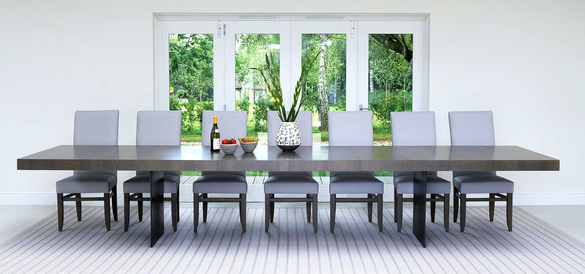 Extending Dining Table With 10 Seats For Most Popular Extra Large Dining Tables (View 21 of 25)