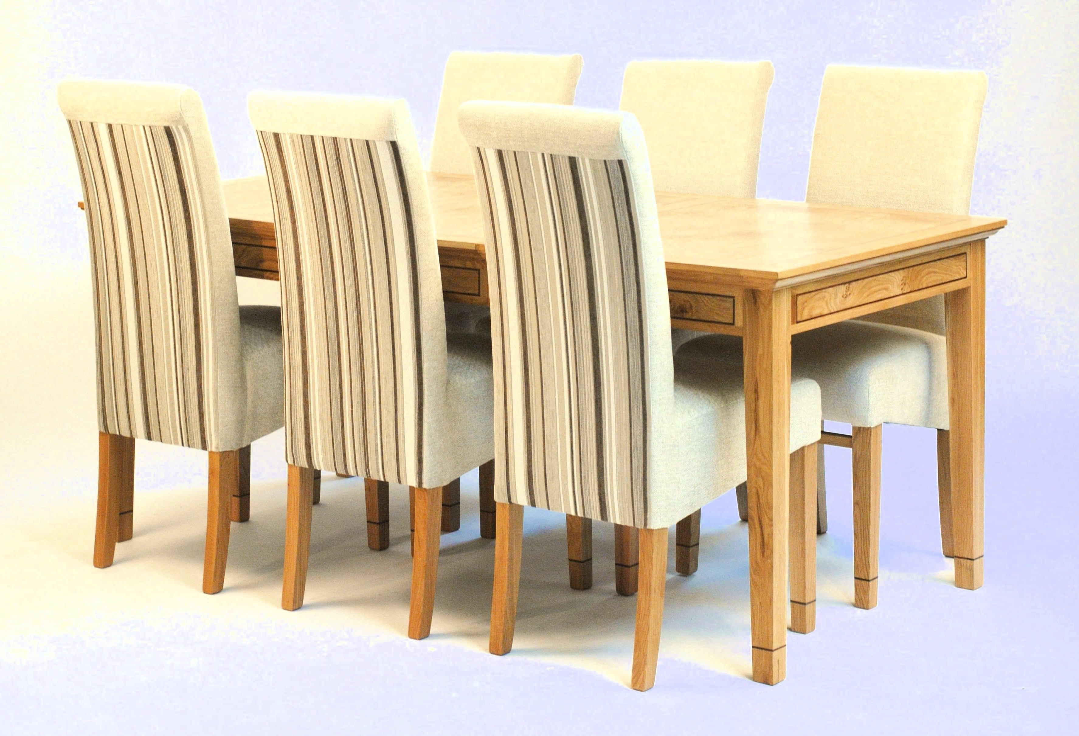 Extending Dining Tables 6 Chairs For Recent Oak Extending Dining Table & 6 Chairs (View 11 of 25)