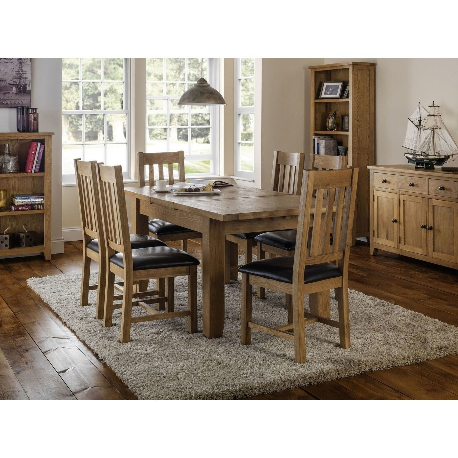 Extending Dining Tables 6 Chairs Throughout Fashionable Julian Bowen Astoria Extending Dining Table Set With 6 Astoria (View 21 of 25)