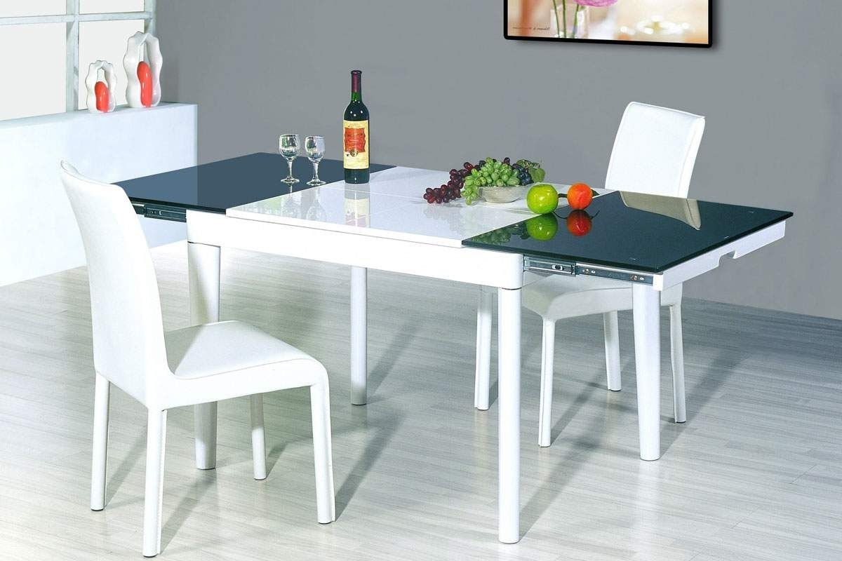 Extending Dining Tables Set regarding Recent Dining Tables: Extaordinary White Square Extending Dining Table
