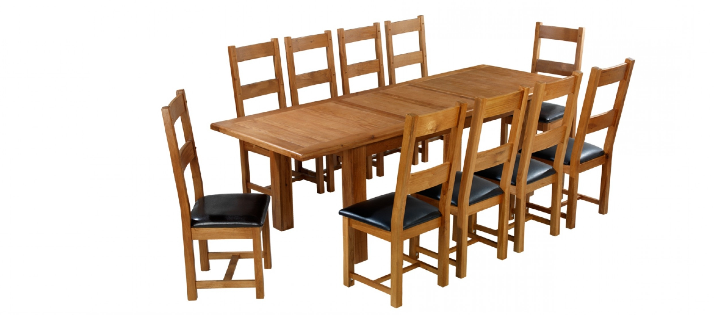 Extending Dining Tables Sets regarding Most Current Barham Oak 180-250 Cm Extending Dining Table And 10 Chairs