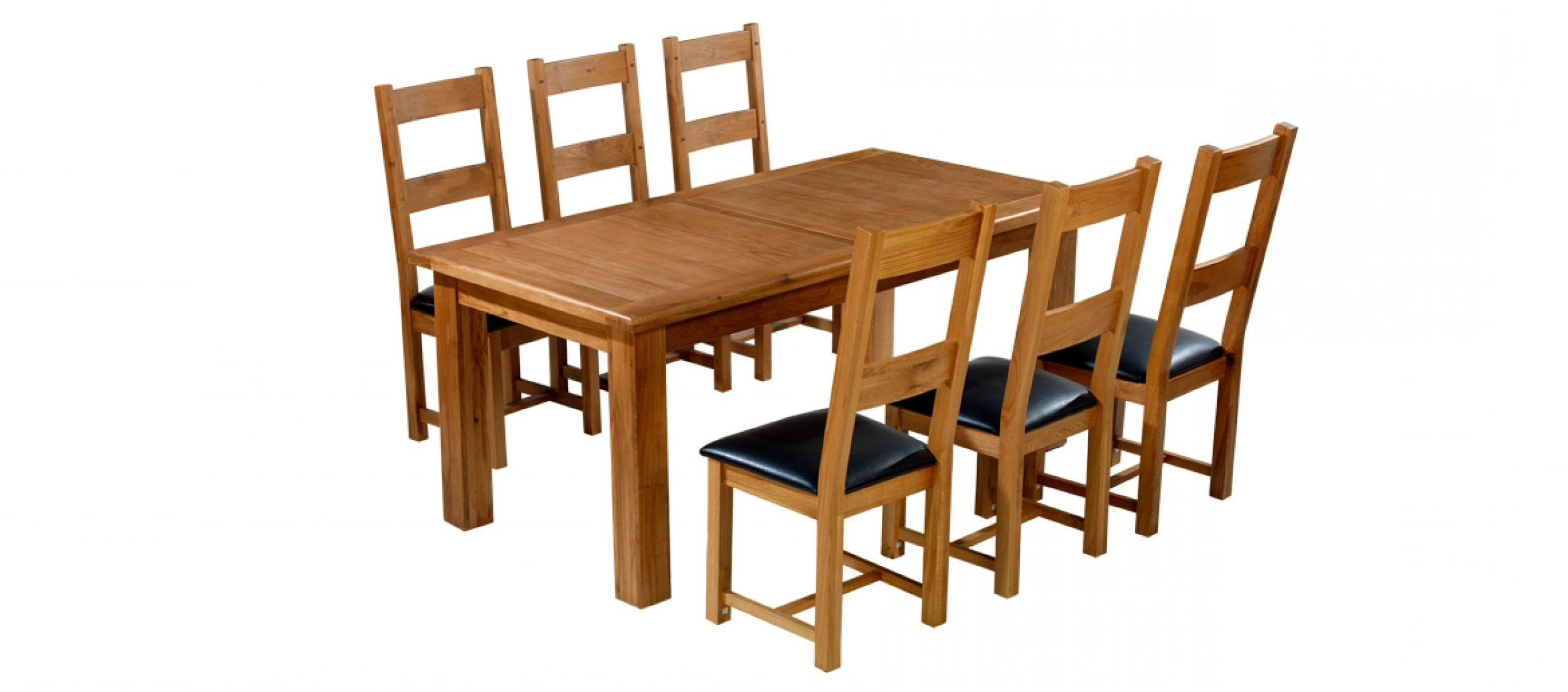 Extending Dining Tables With 6 Chairs within 2018 Barham Oak 180-250 Cm Extending Dining Table And 6 Chairs