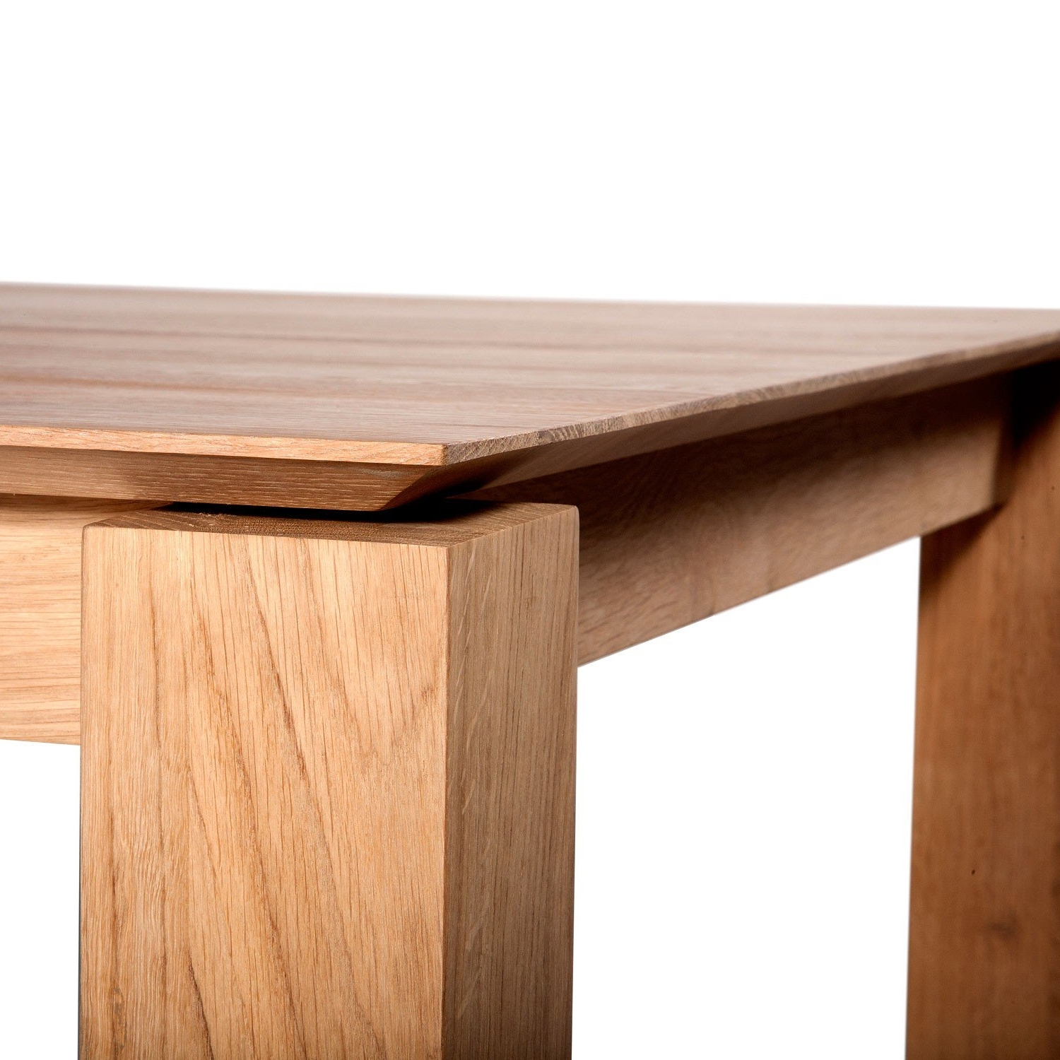 Extending Dining Tables with regard to Recent Ethnicraft Oak Slice Extending Dining Tables