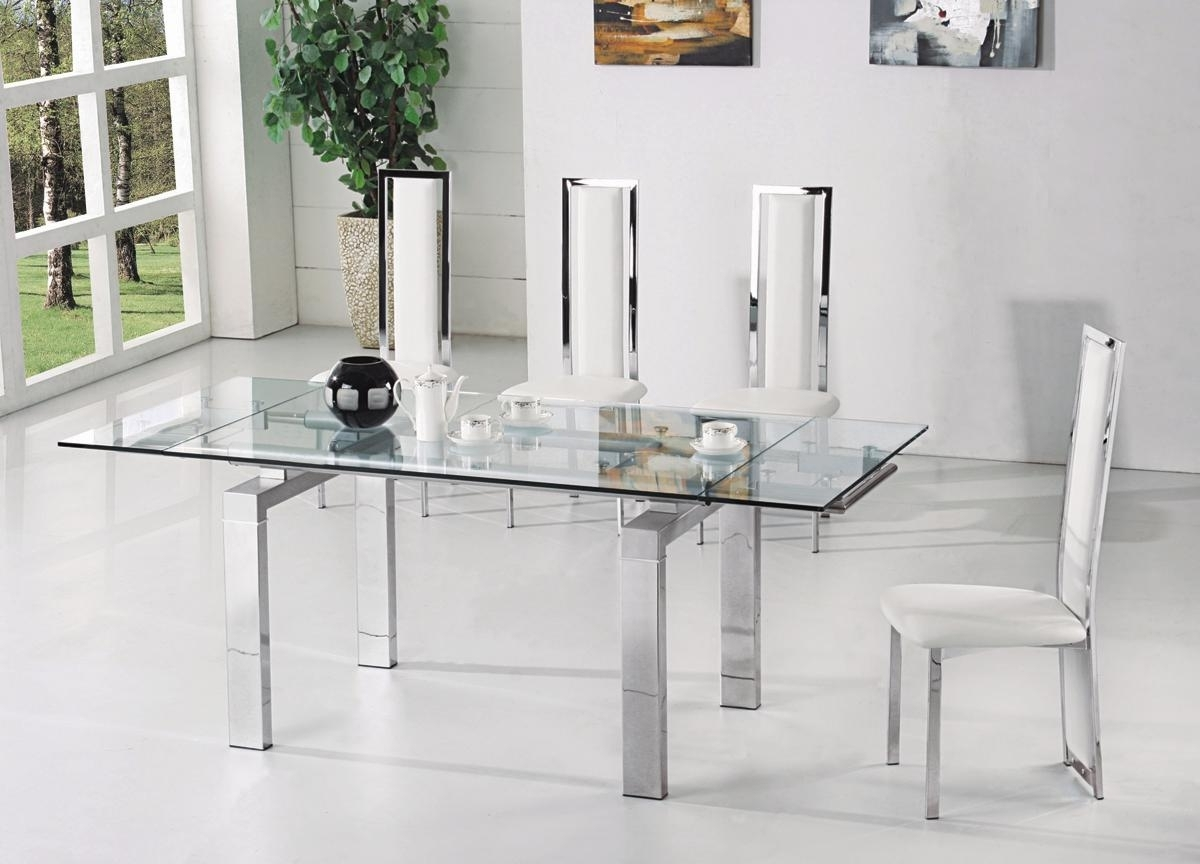 Extending Glass Dining Table ~ Home Decorations : Modern Impression Pertaining To Well Liked Extendable Glass Dining Tables (View 17 of 25)