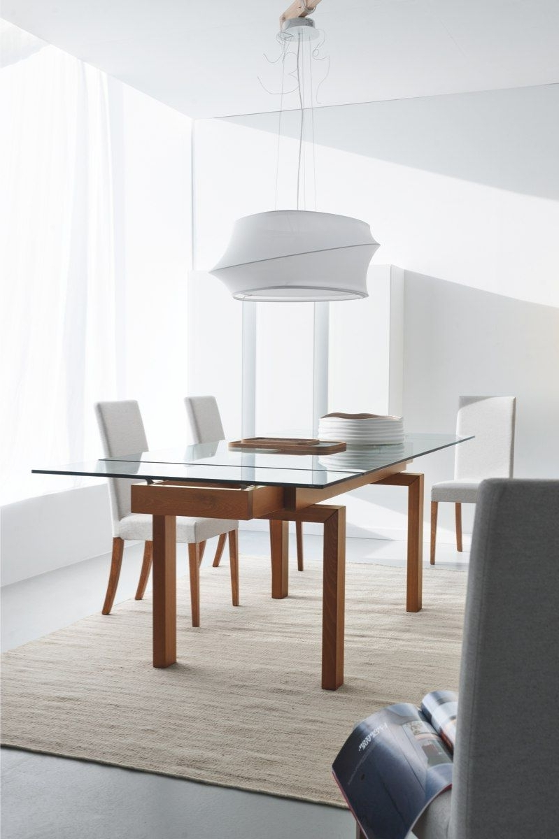Extending Glass Dining Tables In Well Known Hyper Table + Dolcevita Chair (View 3 of 25)