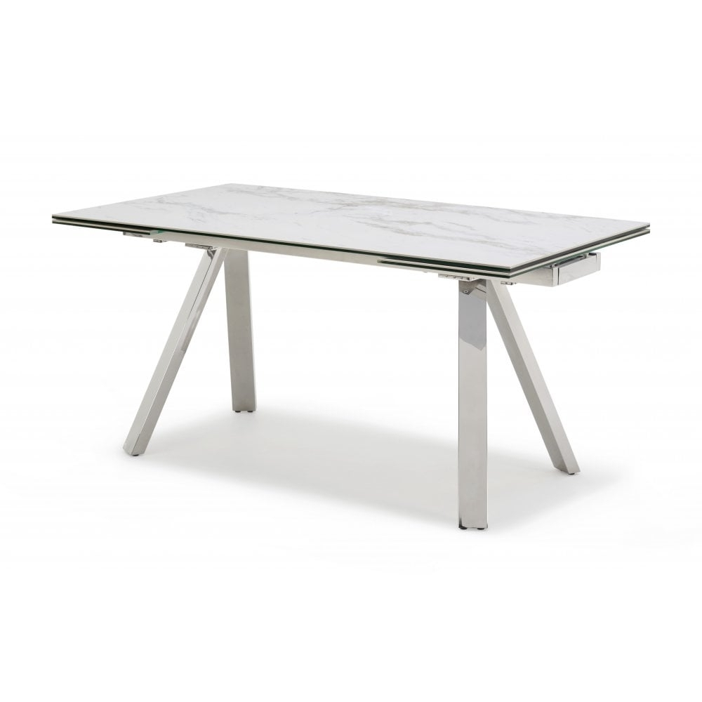 Extending Marble Dining Tables regarding Most Popular Kesterport Stromboli Ceramic Top Extending Table - Seats 8 People