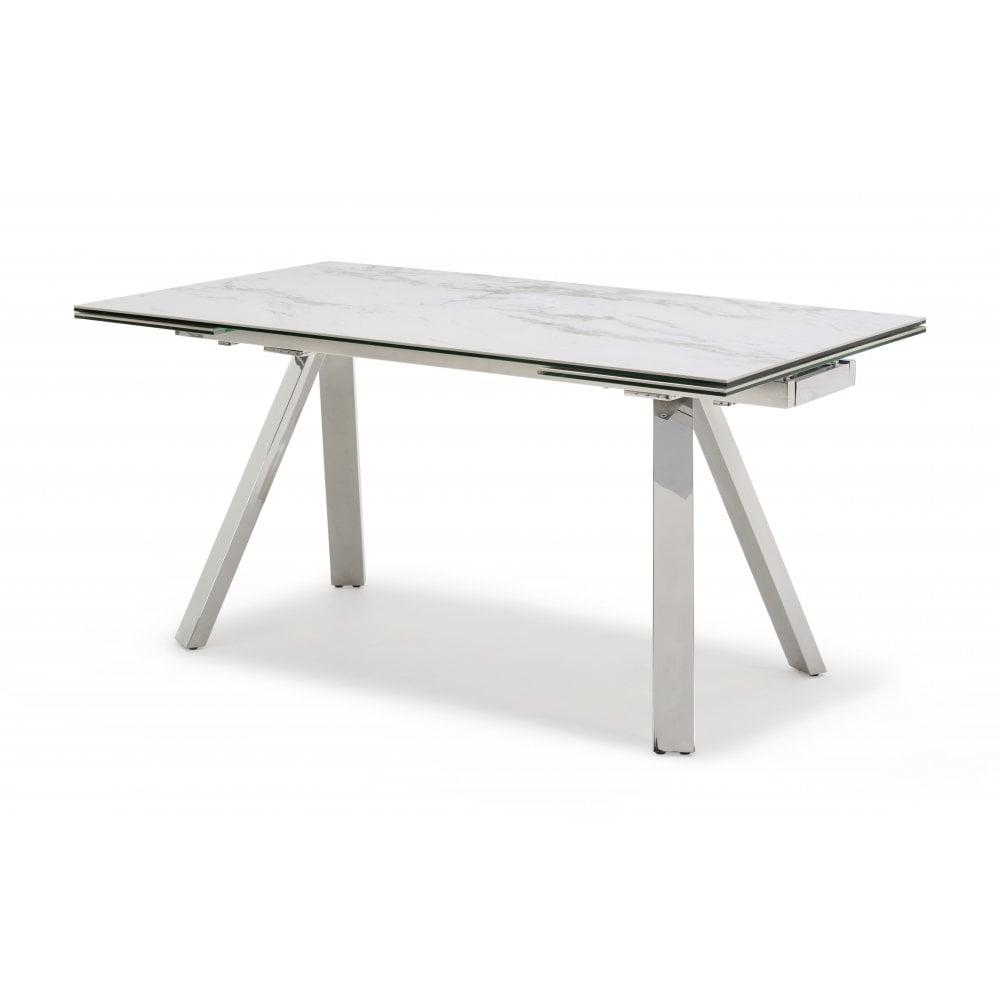Extending Marble Dining Tables Regarding Most Popular Kesterport Stromboli Ceramic Top Extending Table – Seats 8 People (Gallery 4 of 25)