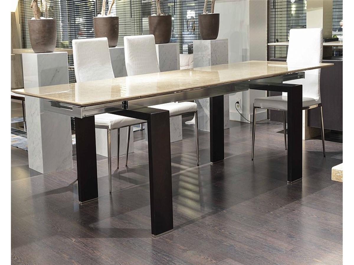 Extending Marble Dining Tables with regard to Most Popular Extending Milano Thin Marble Dining Table - 1506/e